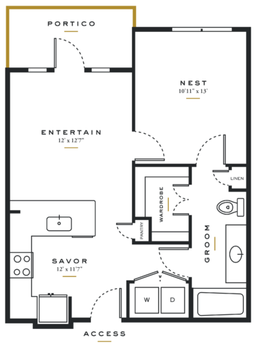 Alexan Maple One Bedroom Floor Plans A1