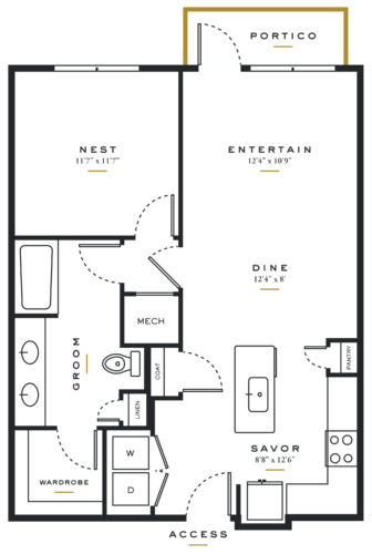 Alexan Maple One Bedroom Floor Plans A4
