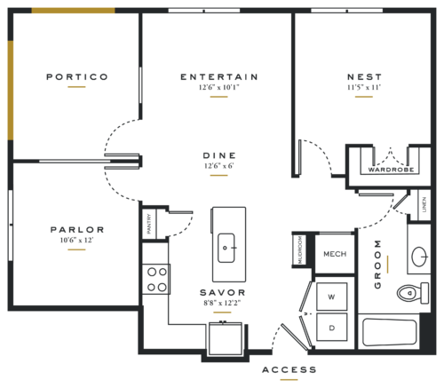 Alexan Maple One Bedroom Floor Plans A5