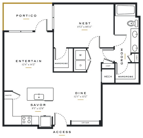 Alexan Maple One Bedroom Floor Plans A8
