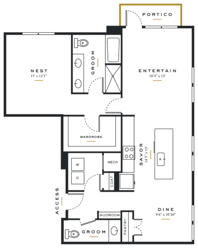 Alexan Maple One Bedroom Floor Plans A9