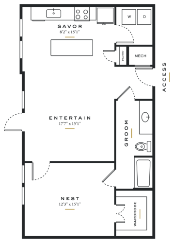 Alexan Maple One Bedroom Floor Plans L2