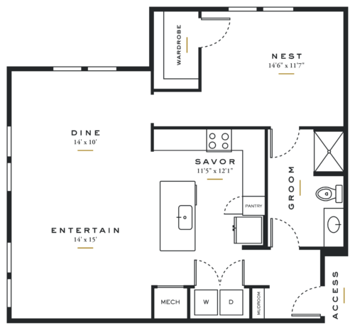 Alexan Maple One Bedroom Floor Plans L3