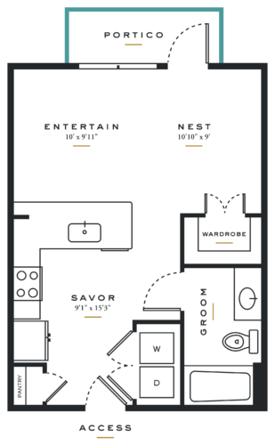 Alexan Maple Studio Floor Plans E1