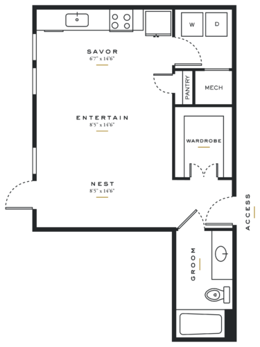 Alexan Maple Studio Floor Plans E2