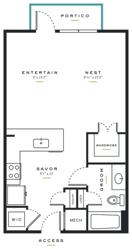 Alexan Maple Studio Floor Plans E3